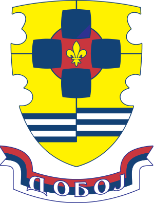 Officially coats of arms of the City of Doboj.
