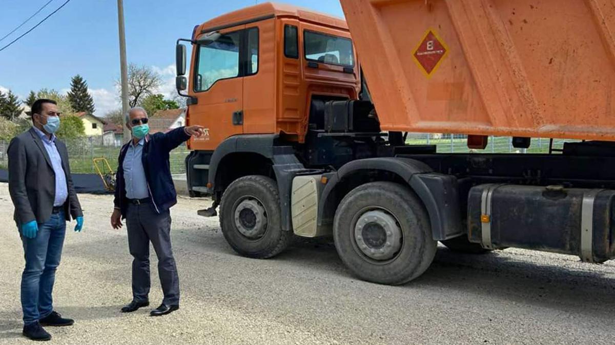 Gradonačelnik Doboja u obilasku radova u poslovnoj zoni.